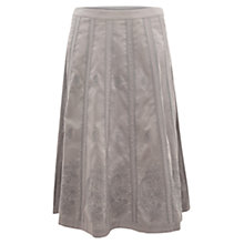 Buy East Embroidered Midi Skirt, Mist Online at johnlewis.com