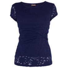 Buy Phase Eight Lydia Lace Top, Navy Online at johnlewis.com