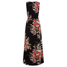Buy Oasis Oriental Maxi Dress, Multi Black Online at johnlewis.com