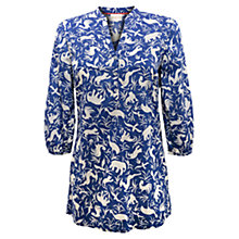 Buy East Noah Print Blouse, Blue Online at johnlewis.com