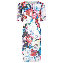 Buy Kaliko Frida Ruched Dress, Multi Online at johnlewis.com