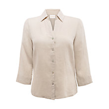 Buy East Roma Linen Shirt, Lightstone Online at johnlewis.com