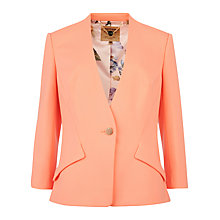 Buy Ted Baker Curved Hem Jacket, Orange Online at johnlewis.com