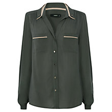 Buy Oasis Colour Block Shirt, Khaki Online at johnlewis.com