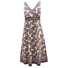 Buy East Paisley Print Dress, Pearl Online at johnlewis.com