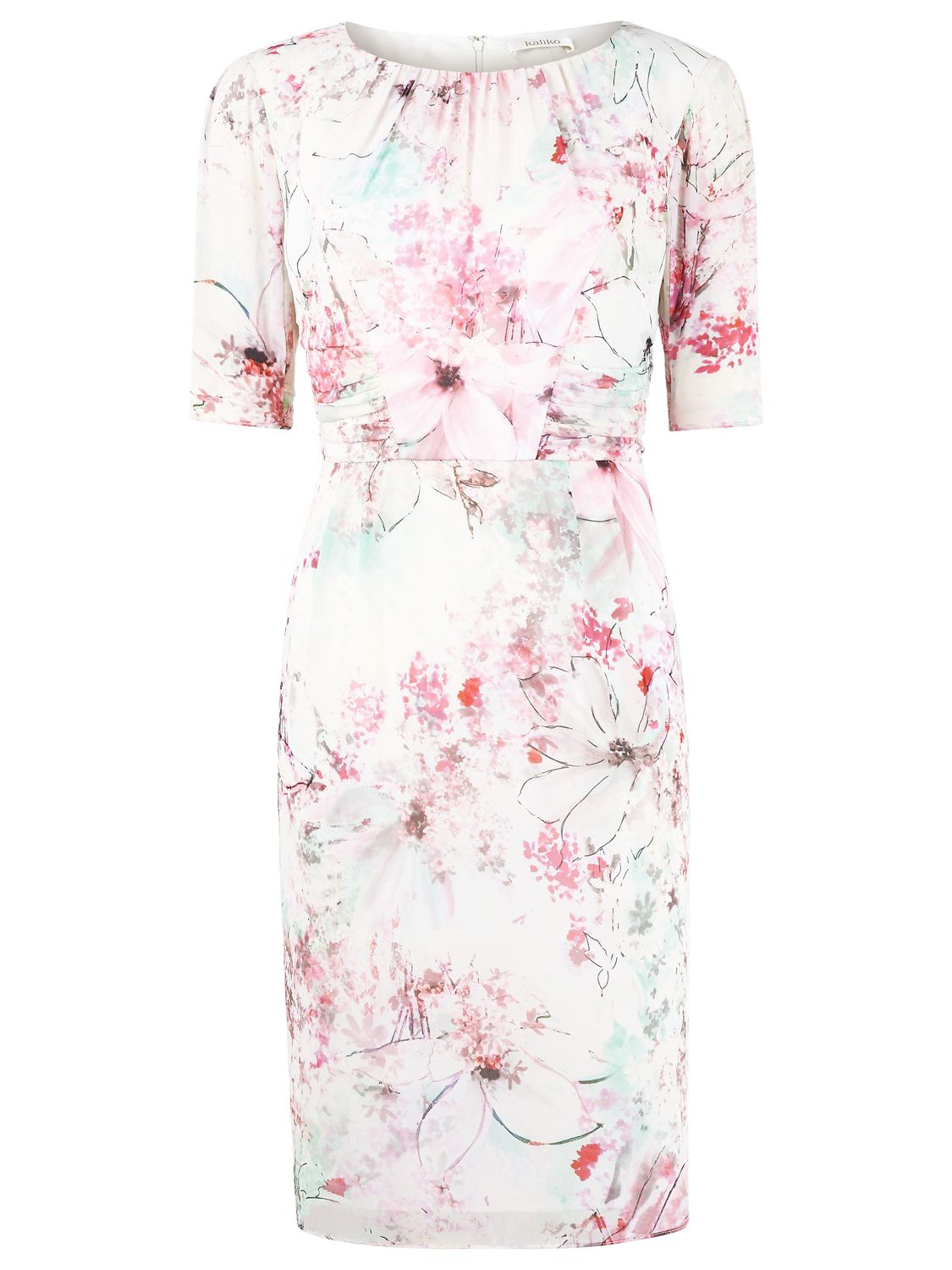 Kaliko Magnolia Floral Dress, Multi Pink
