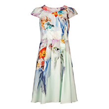 Buy Ted Baker Sugar Sweet Floral Print Dress, Pale Green Online at johnlewis.com