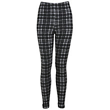 Buy Miss Selfridge Assorted Check Tube Trousers, Black Online at johnlewis.com
