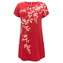 Buy East Wisteria Silk Tunic, Rouge Online at johnlewis.com