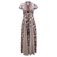 Buy East Paisley Print Maxi Dress, Pearl Online at johnlewis.com