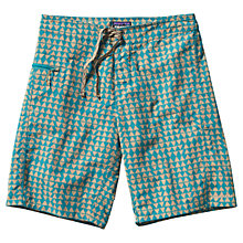 Buy Patagonia Wavefarer Geo Print Swim Shorts, Blue Online at johnlewis.com