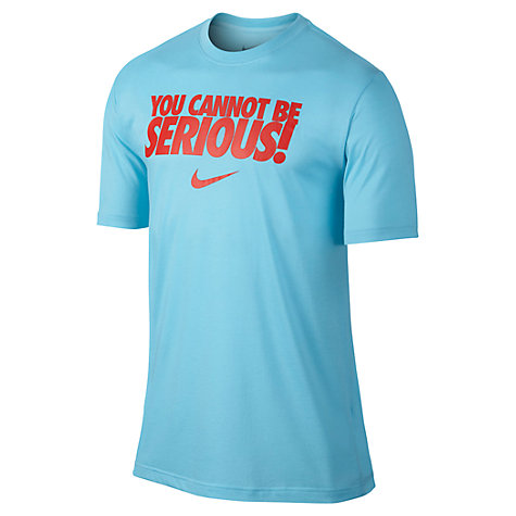 Buy Nike Tennis Slogan Crew Neck T-Shirt Online at johnlewis.com