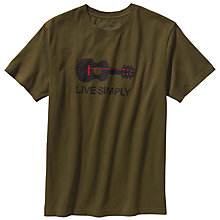Buy Patagonia Live Simply Guitar T-Shirt, Hickory Online at johnlewis.com