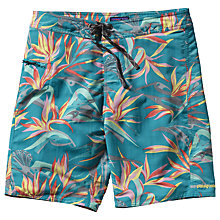 Buy Patagonia Wavefarer Floral Swim Shorts, Teal/Multi Online at johnlewis.com