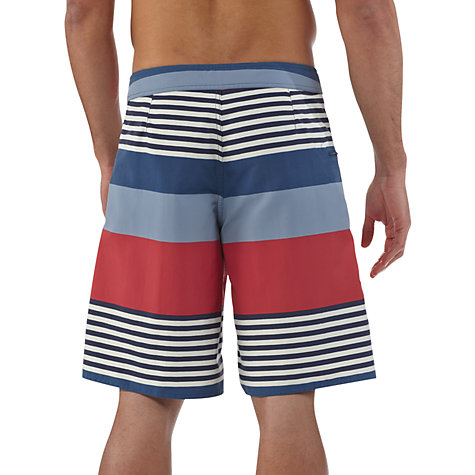 Buy Patagonia Wavefarer Stripe Swim Shorts, Blue/Red Online at johnlewis.com