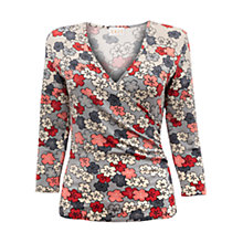 Buy East Rika Floral Print Jersey Top, Mist Online at johnlewis.com