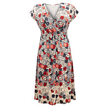 Buy East Rika Floral Print Jersey Dress, Grey Mist Online at johnlewis.com