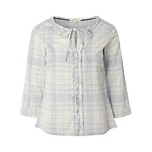 Buy White Stuff Brimstone Check Top, Paper White Online at johnlewis.com