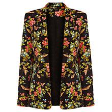 Buy Oasis Butterfly Blossom Jacket, Multi Black Online at johnlewis.com