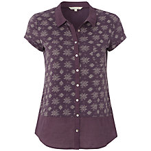 Buy White Stuff Nori Geo Print Shirt, Dark Thistle Online at johnlewis.com