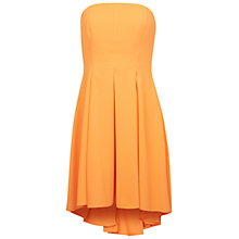 Buy Miss Selfridge Bandeau Prom Dress, Orange Online at johnlewis.com