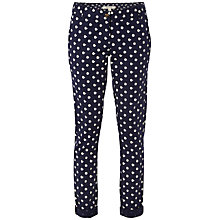 Buy White Stuff Hazy Days Spot Trousers, Dark Regatta Online at johnlewis.com