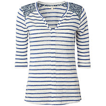 Buy White Stuff Haku Stripe T-Shirt, China Blue Online at johnlewis.com