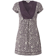 Buy White Stuff Kawaii Floral Tunic, Dark Thistle Online at johnlewis.com