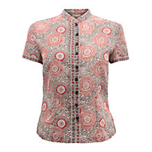 Buy East Anokhi Print Top, Pearl Online at johnlewis.com