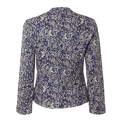 Buy White Stuff Dhalia Print Jacket, Dark China Blue Online at johnlewis.com