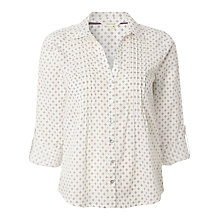 Buy White Stuff Ditsy Shirt, Paper White Online at johnlewis.com