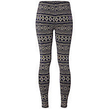 Buy White Stuff Salvage Printed Leggings, Onyx Online at johnlewis.com