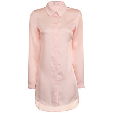 Buy True Decadence Satin Shirt Dress, Light Pink Online at johnlewis.com