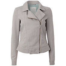 Buy White Stuff Salt Bay Biker Jacket, Miso Grey Online at johnlewis.com