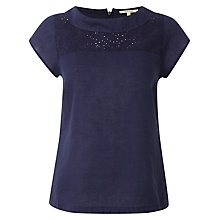 Buy White Stuff Rococo Broderie Top, Onyx Blue Online at johnlewis.com