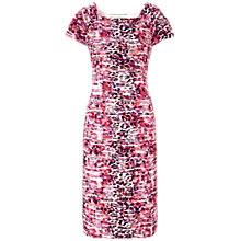 Buy Gina Bacconi Printed Wave Knit Dress, Fuchsia Online at johnlewis.com