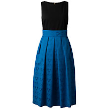 Buy Closet Contrast Midi Dress, Blue Online at johnlewis.com