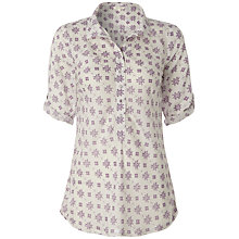 Buy White Stuff Sapporo Geo Print Shirt, White Online at johnlewis.com