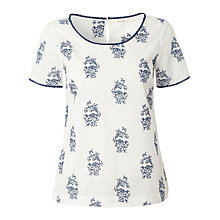 Buy White Stuff Indigo Embroidered Top, White Online at johnlewis.com