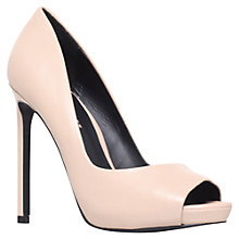 Buy KG by Kurt Geiger Eleri Open Toe Stiletto Court Heels Online at johnlewis.com