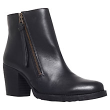 Buy Kurt Geiger Sweep Leather Ankle Boots, Black Online at johnlewis.com