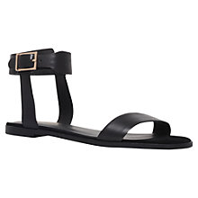 Buy KG by Kurt Geiger Maddox Flat Sandals, Black Online at johnlewis.com