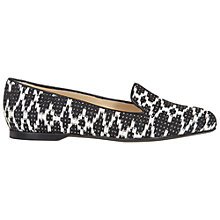 Buy Hobbs Ellen Slipper Pumps, Black/Ivory Online at johnlewis.com