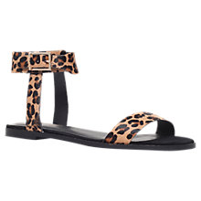 Buy KG by Kurt Geiger Maddox Leather Flat Sandals Online at johnlewis.com
