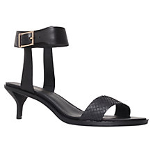 Buy KG by Kurt Geiger Mid Heel Leather Sandals, Black Online at johnlewis.com