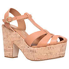 Buy Kurt Geiger Lotus Closed Toe Platform Leather Sandals Online at johnlewis.com