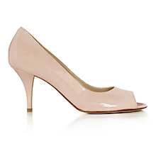 Buy Hobbs Invitation Arletta Leather Courts, Nude Online at johnlewis.com