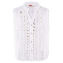 Buy Louche Crochet Blouse, White Online at johnlewis.com