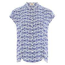 Buy Louche Ikat Top, Blue Online at johnlewis.com