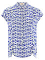 Louche Ikat Top, Blue